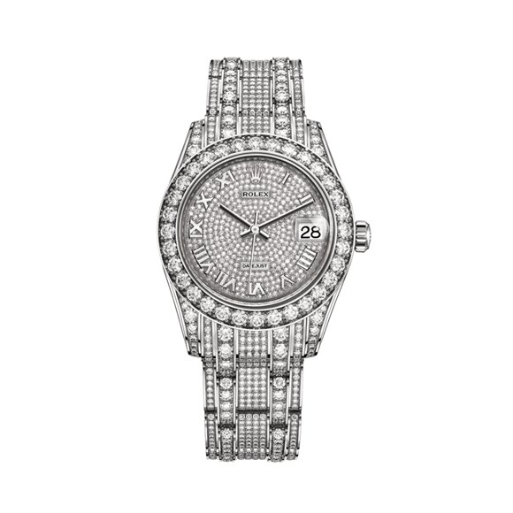 Rolex Datejust Pearlmaster Diamond 18K White Gold - 81409RBR-0001