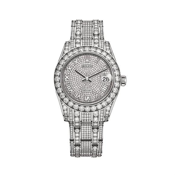 Rolex Datejust Pearlmaster Diamond 18K White Gold - 81409RBR-0001