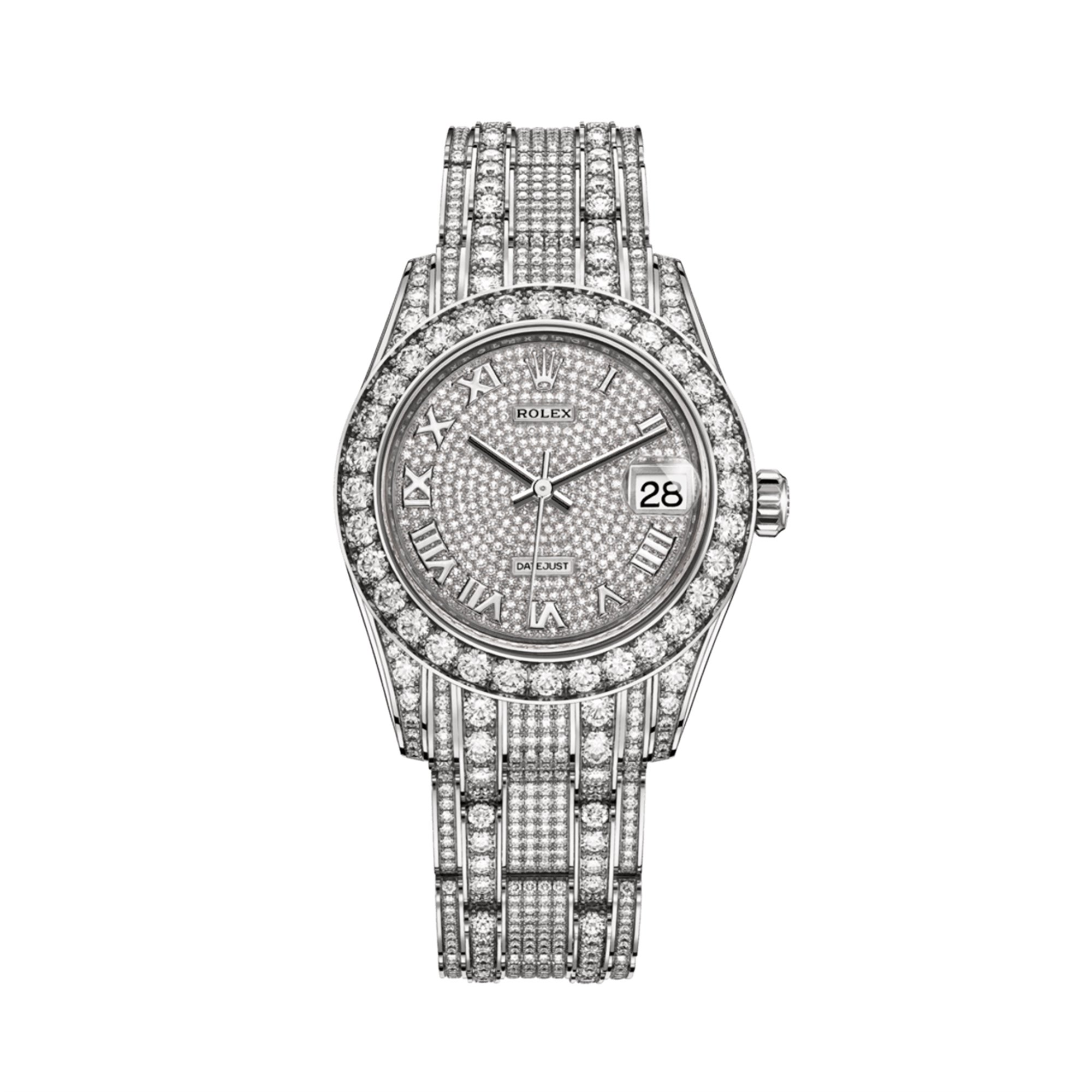 Rolex Datejust Pearlmaster Diamond 18K White Gold 81409RBR-0001