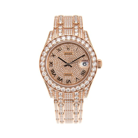 Rolex Datejust Pearlmaster Diamond 18K Rose Gold - 81405RBR-0001