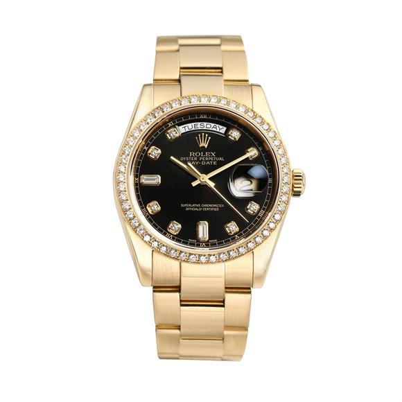 Rolex Day-Date 36 Diamond 18K Yellow Gold - 118348-0024