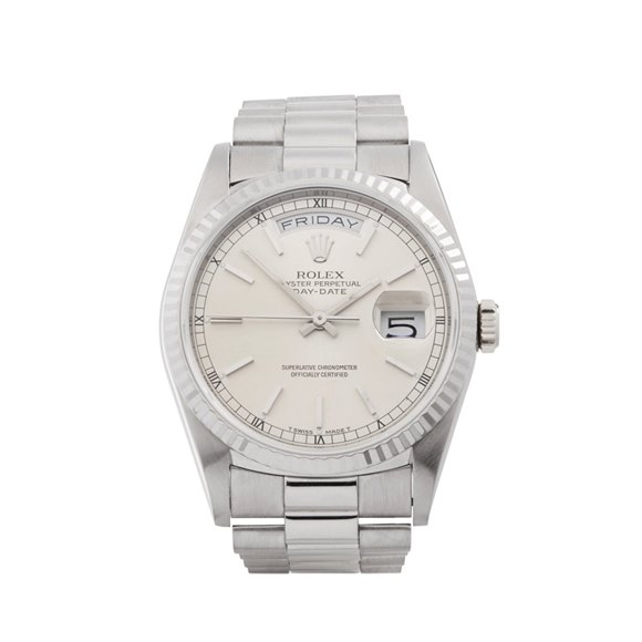 Rolex Day-Date 36 18K White Gold - 18239