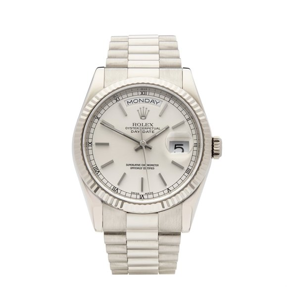 Rolex Day-Date 36 18K White Gold - 118239