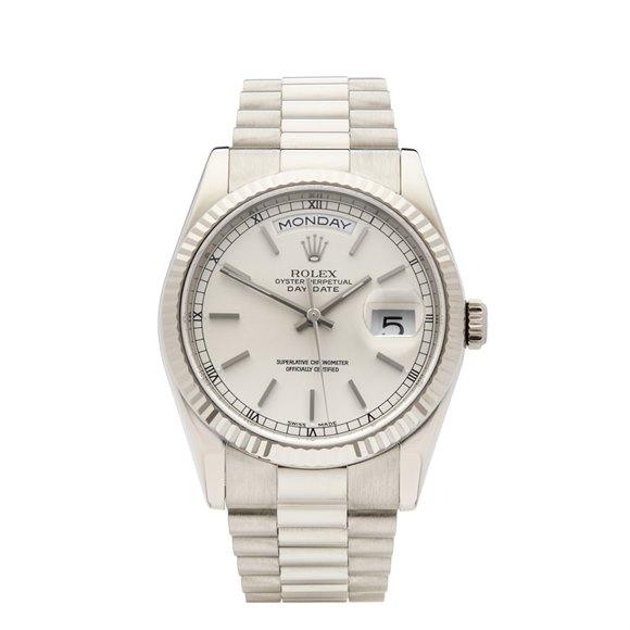 Rolex Day-Date 36 18K White Gold - 118239