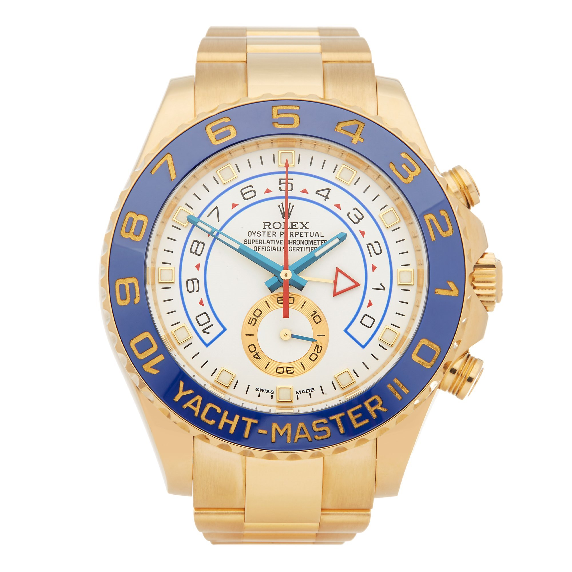 Rolex Yacht-Master II Regatta Chronograph 18K Yellow Gold 116688