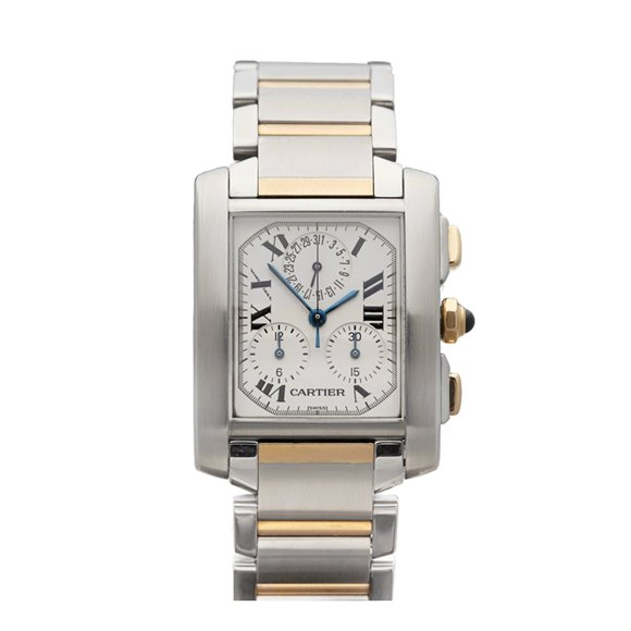 Cartier Tank Francaise Chronoreflex Stainless Steel & Yellow Gold - W51004Q4 or 2303