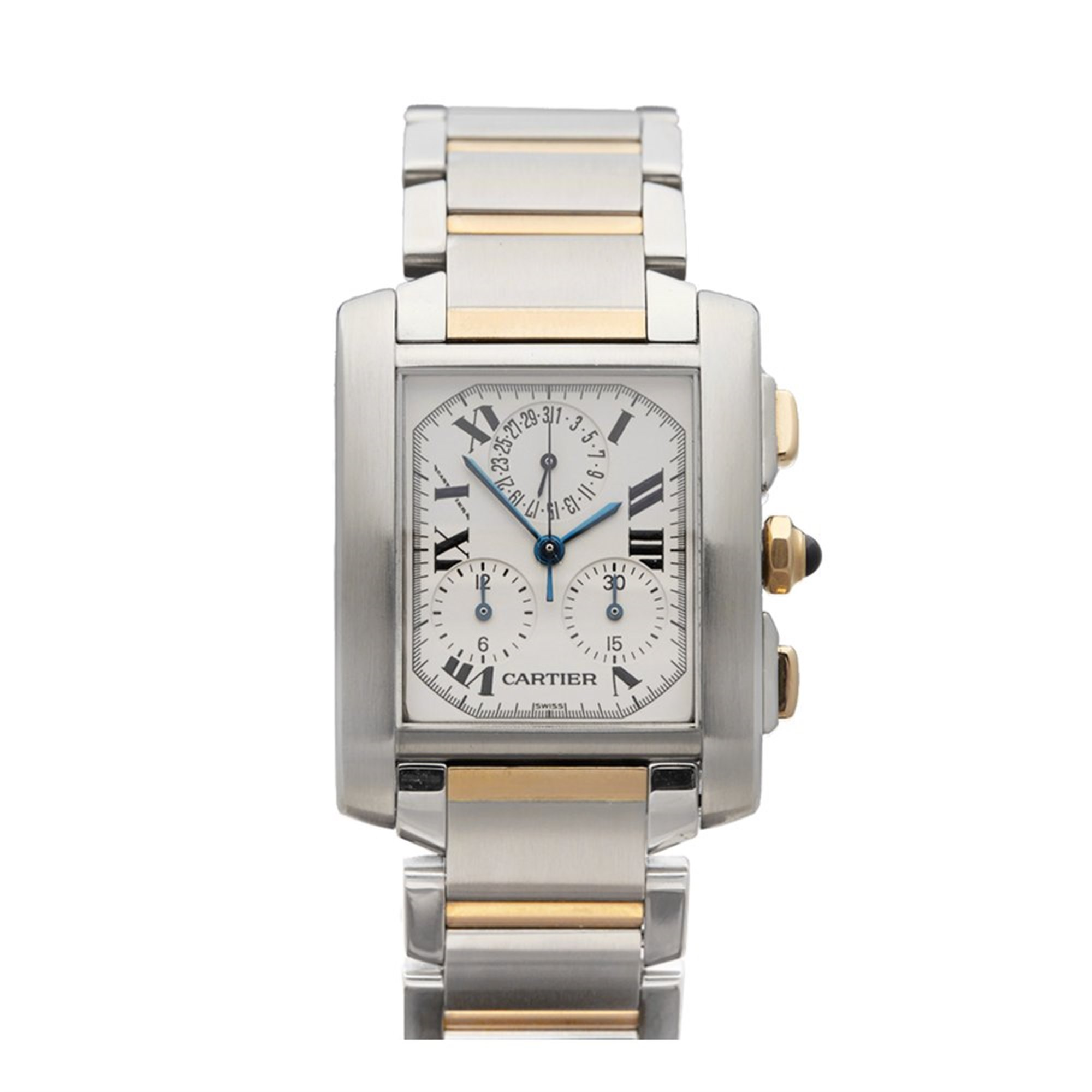 Cartier Tank Francaise Chronoreflex 18K Stainless Steel & Yellow Gold W51004Q4 or 2303