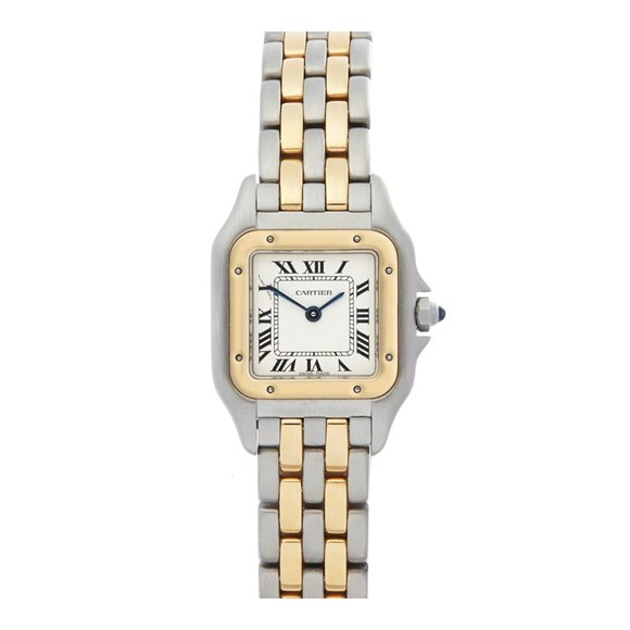 Cartier Panthère 2 Row Stainless Steel & Yellow Gold - 1669