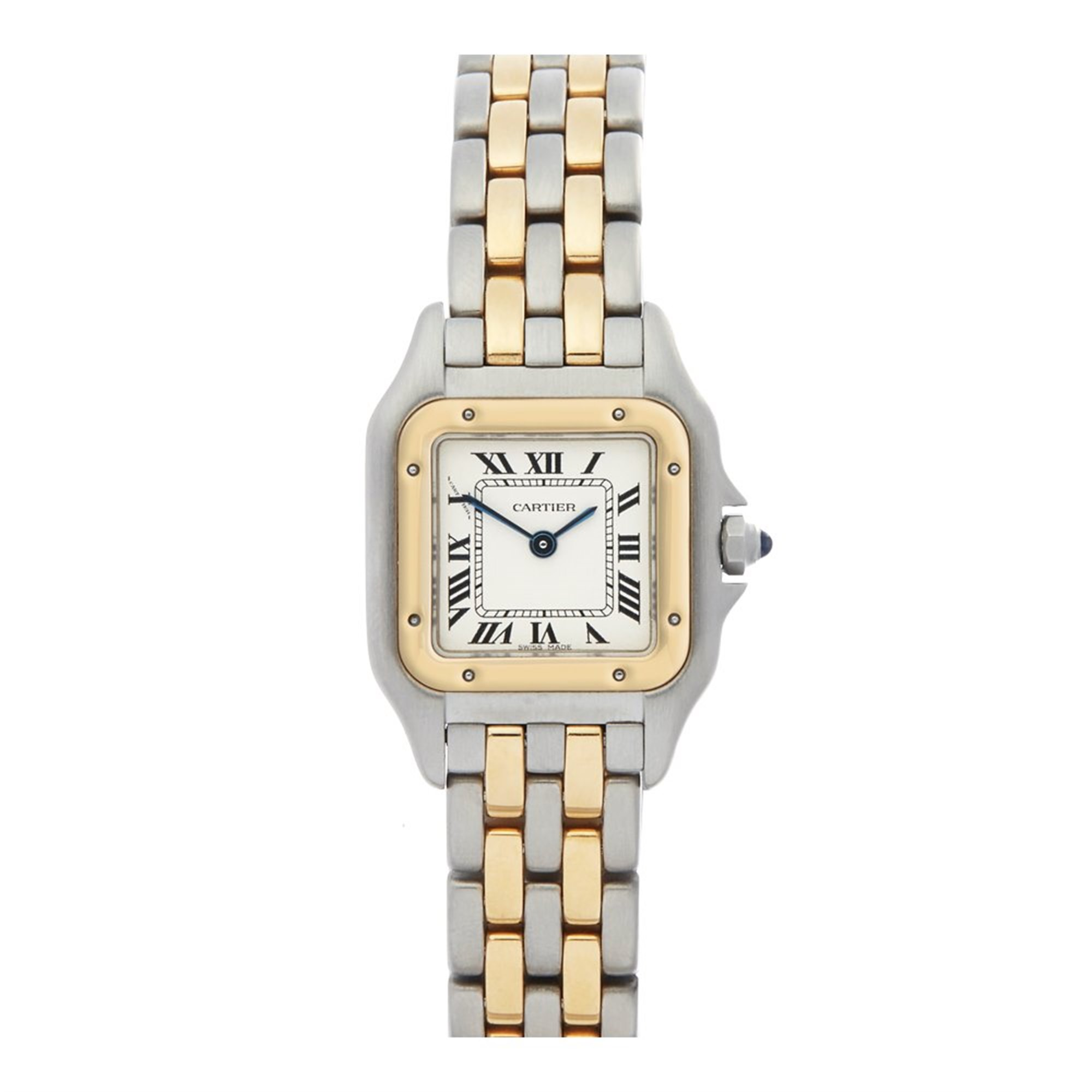 Cartier Panthère 2 Row Stainless Steel & Yellow Gold 1669