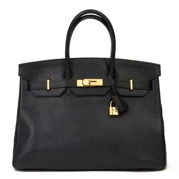 Hermès Black Clemence Leather Birkin 35cm