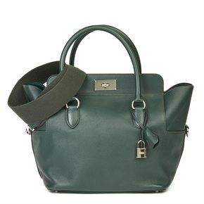 Hermès Vert Anglais Evercolour Leather Toolbox 26cm