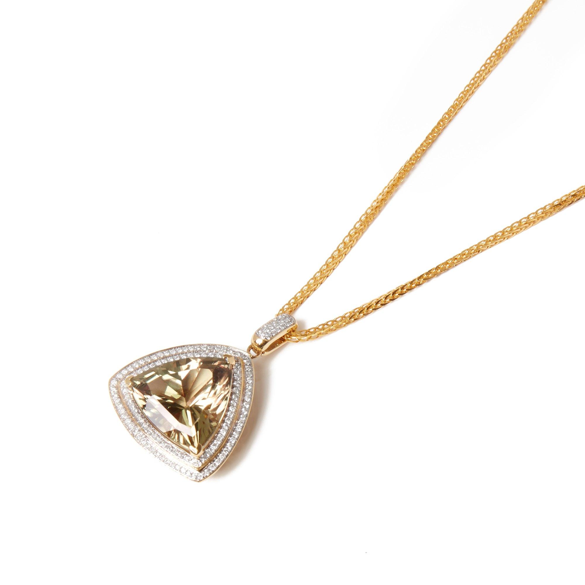 David Jerome 18k Yellow Gold Zultanite and Diamond Pendant