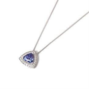 David Jerome 18k White Gold Tanzanite and Diamond Pendant