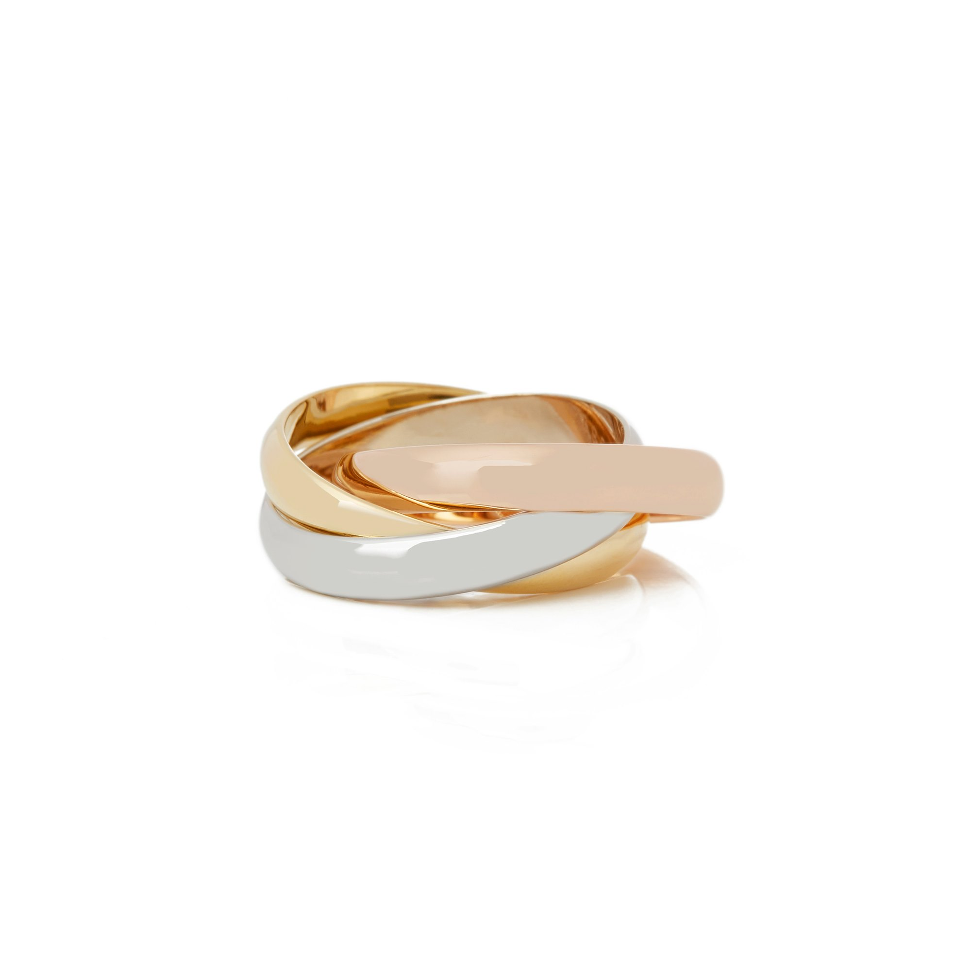 Cartier 18k Yellow, White and Rose Trinity Ring
