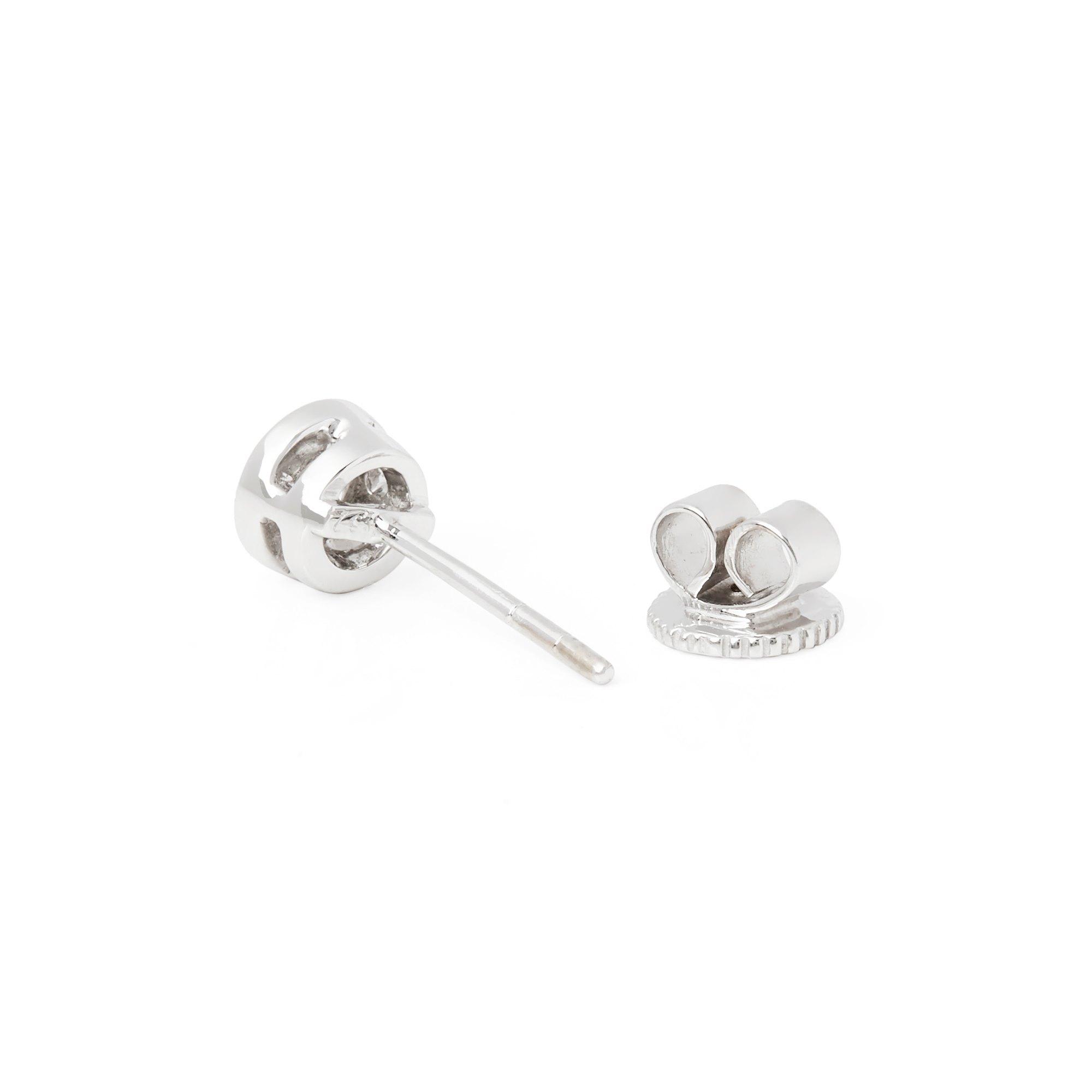 Diamond 18k White Gold Round Brilliant Diamond Earrings
