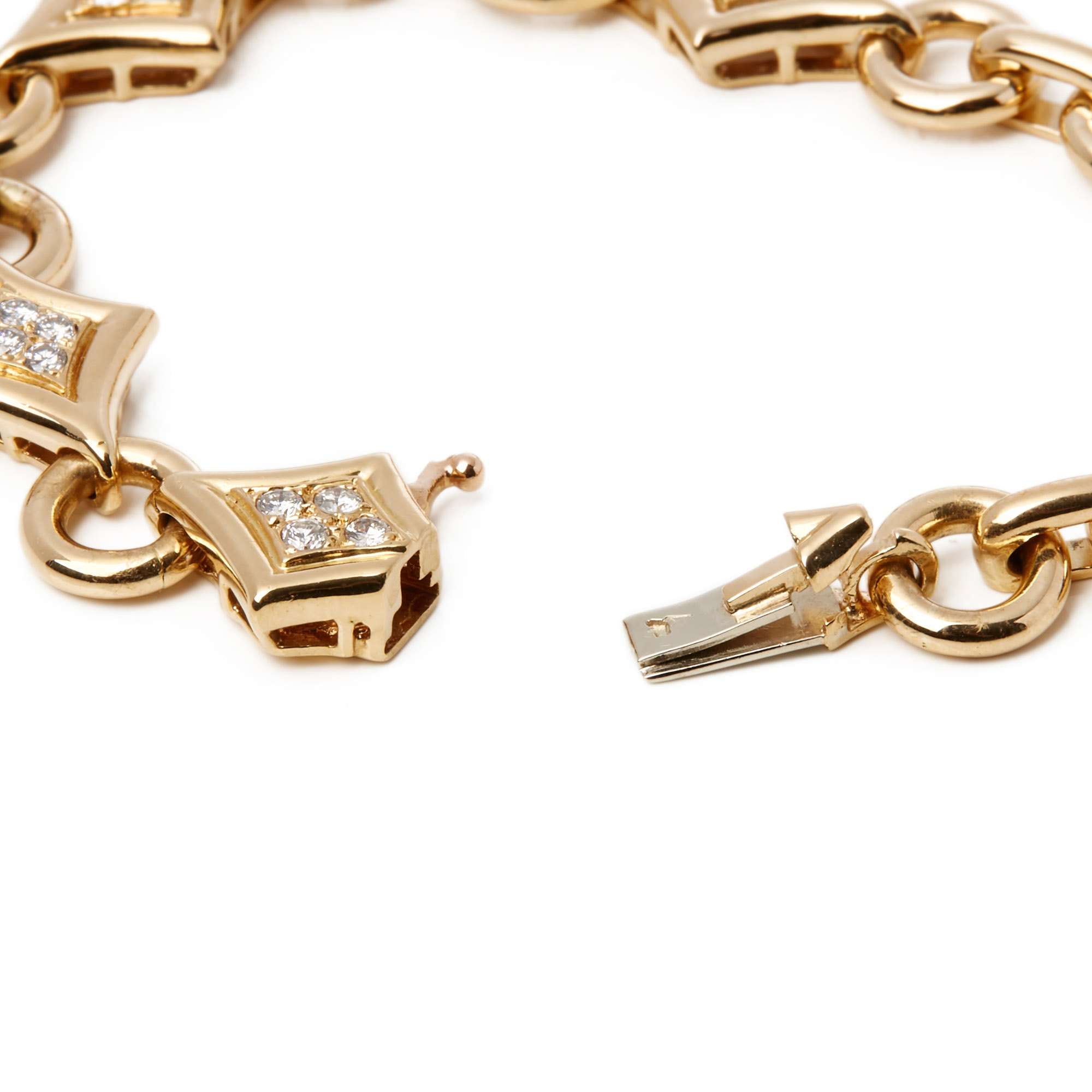 Van Cleef & Arpels 18k Yellow Gold Fancy Link Diamond Bracelet