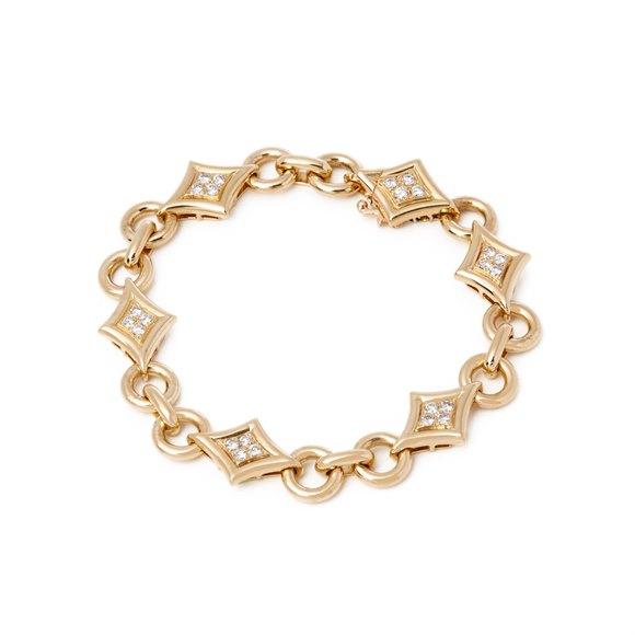 Van Cleef & Arpels 18k Yellow Gold Fancy Link Diamond Bracelet