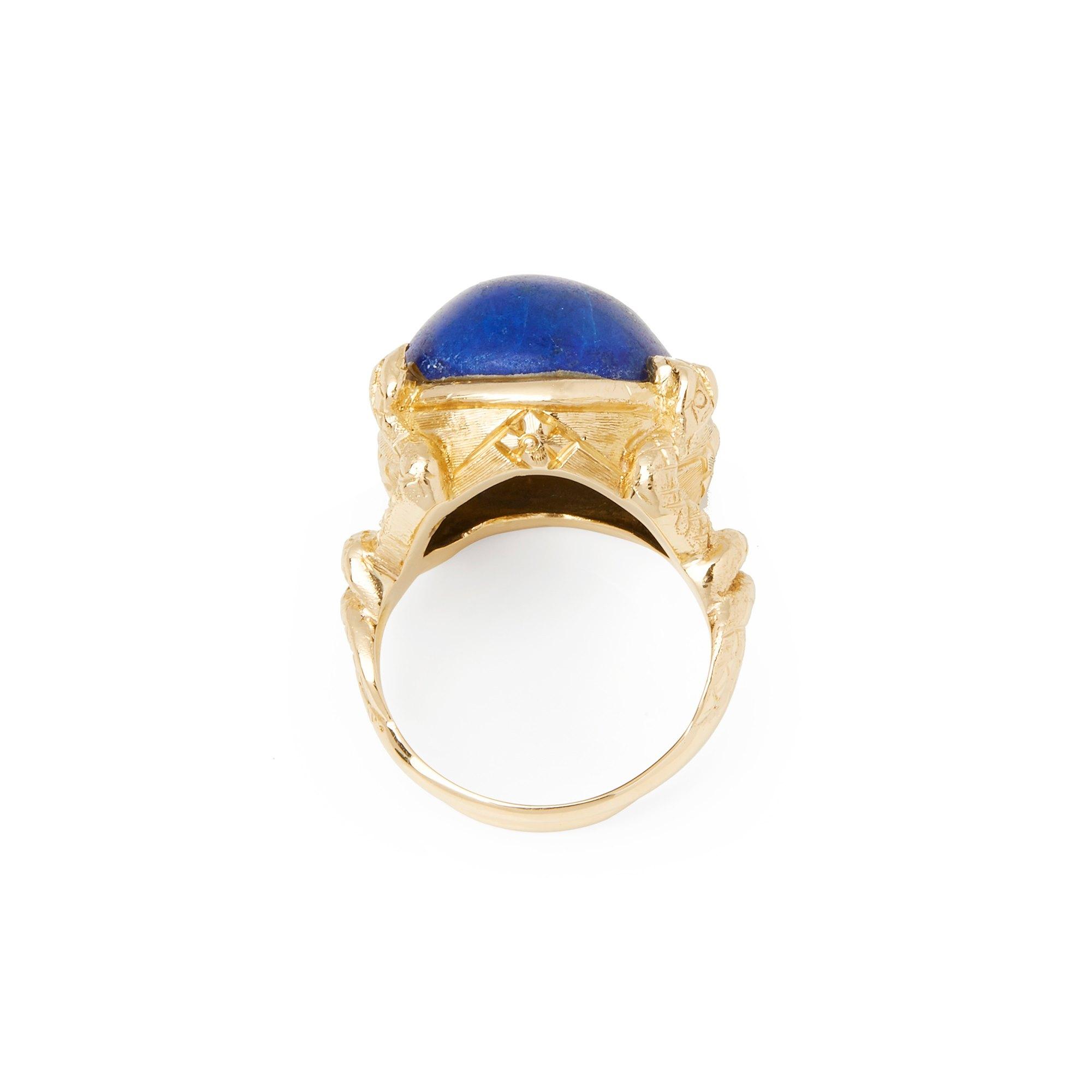 Lapis Lazuli 18k Yellow Gold Lapis Lazuli Ring