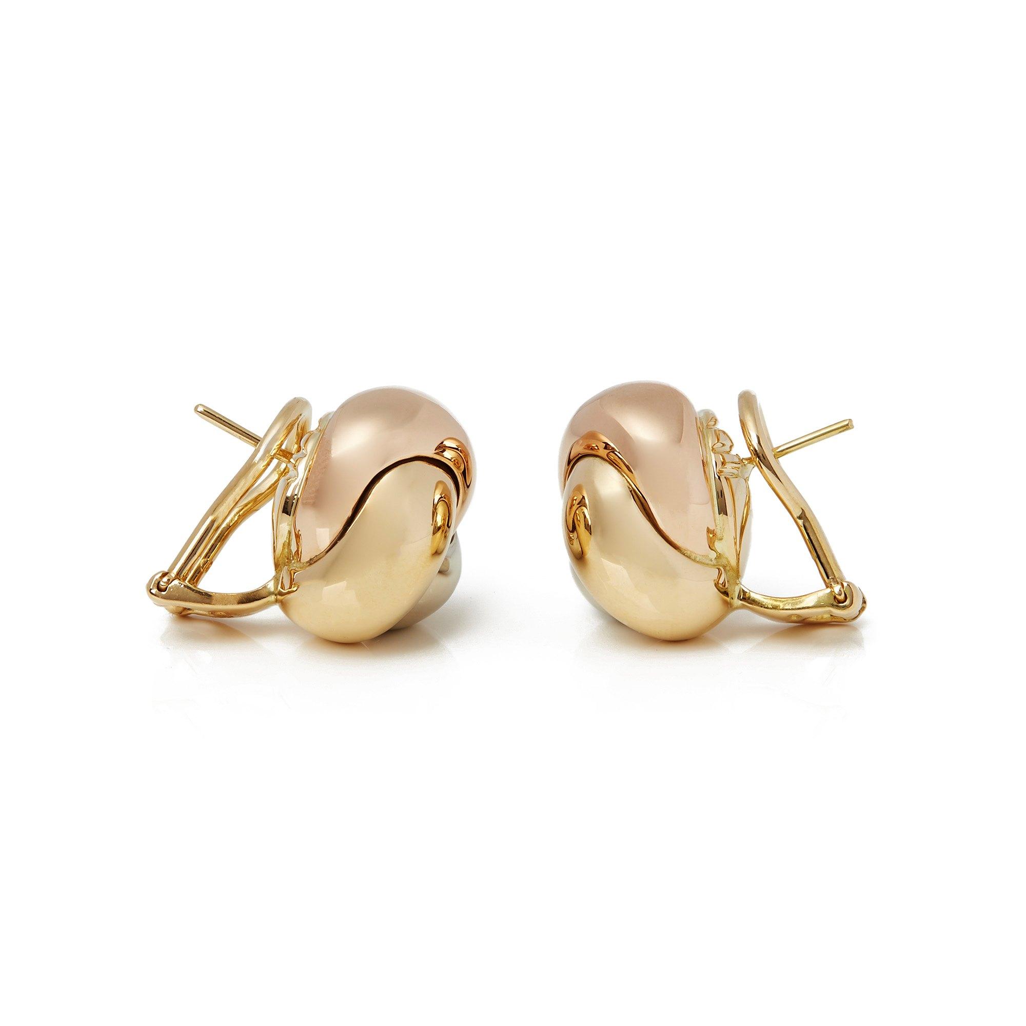 Cartier 18k Tri Colour Trinity Earrings