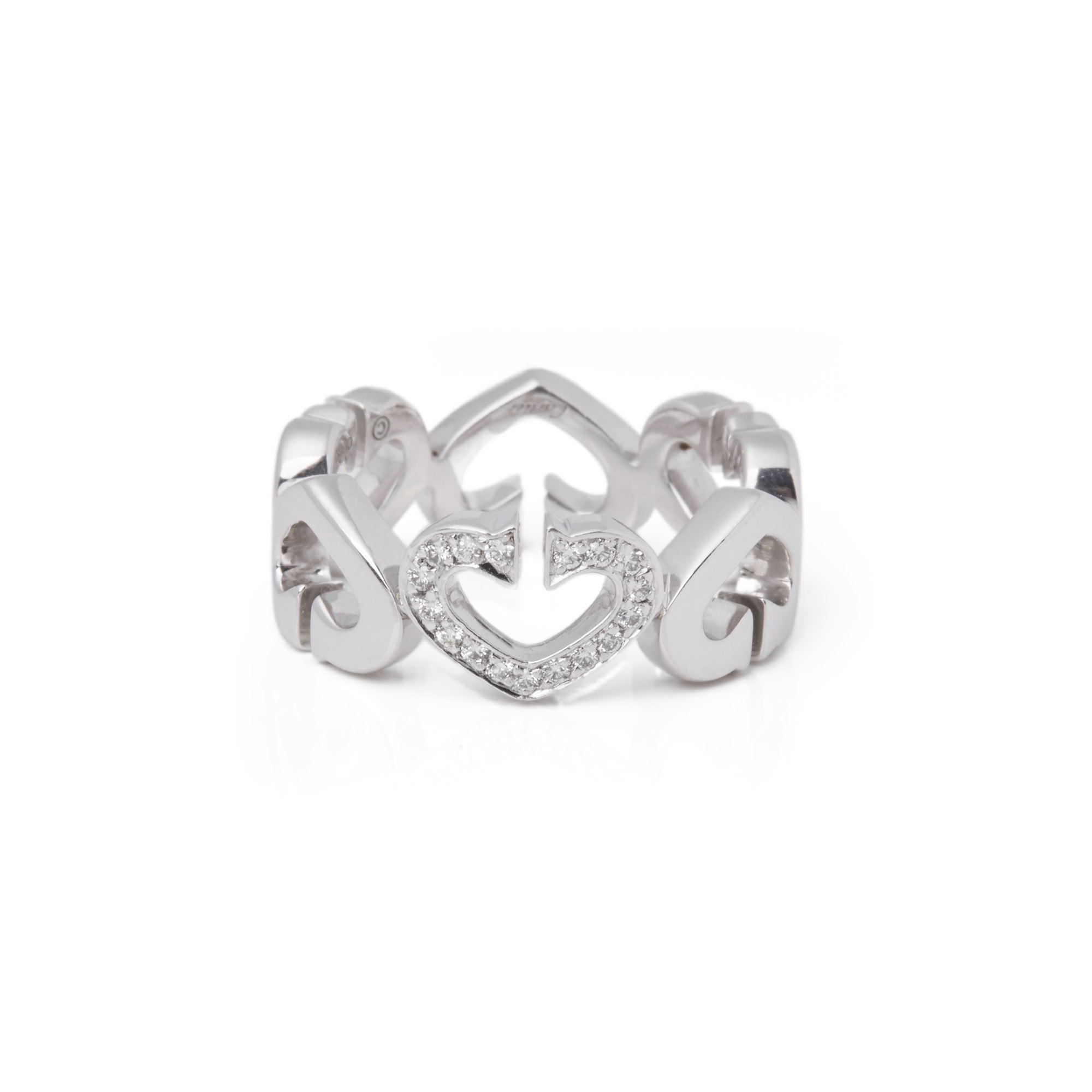 Cartier 18k White Gold Hearts and Symbols Ring
