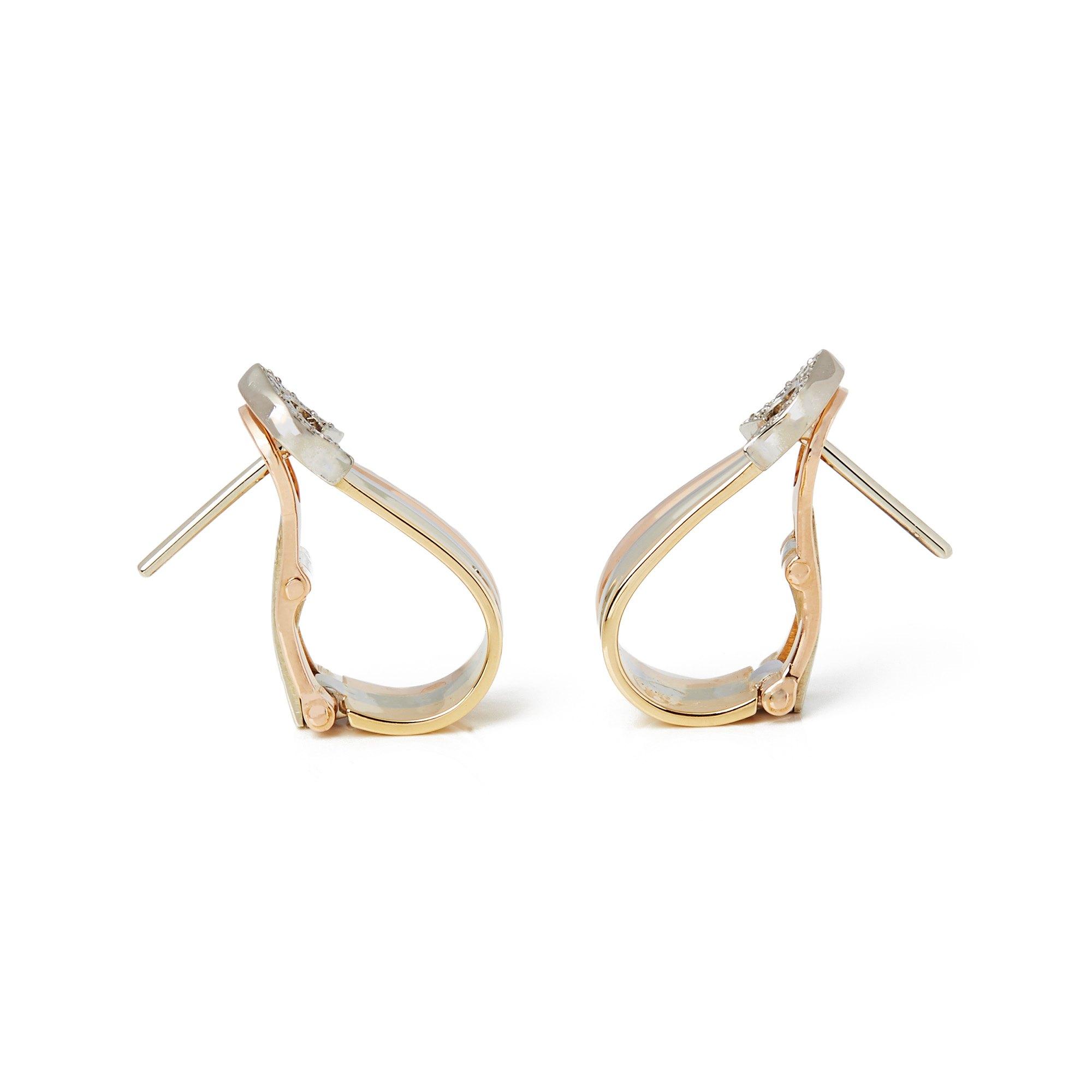 Cartier 18k Bi Colour Trinity Earrings