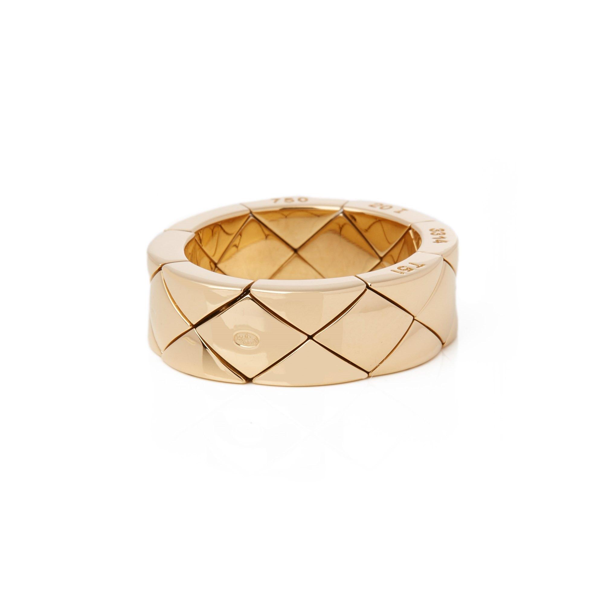 Chanel 18k Yellow Gold Coco Crush Dress Ring