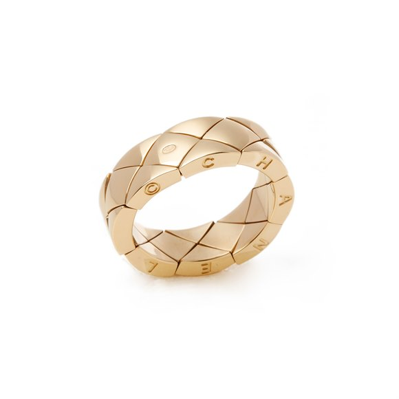 Chanel 18k Yellow Gold Coco Crush Dress Ring