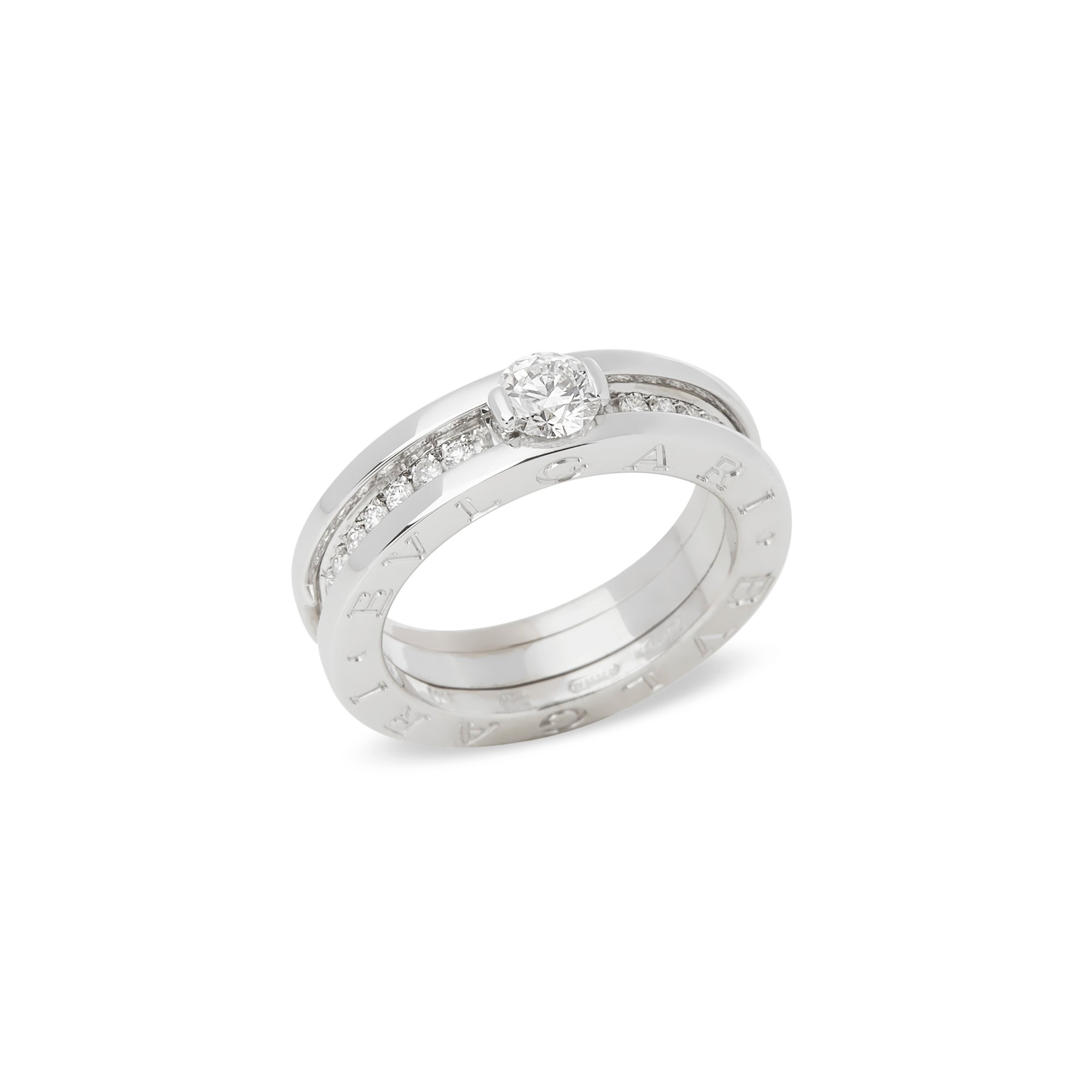 Bulgari 18k White Gold B Zero 1 Round Brilliant Cut Diamond Ring