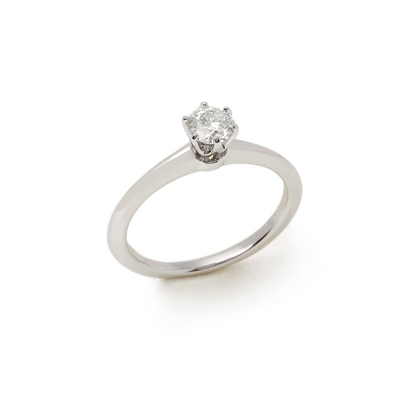 Tiffany & Co. Platinum 0.35ct Round Brilliant Cut Diamond Solitaire Ring