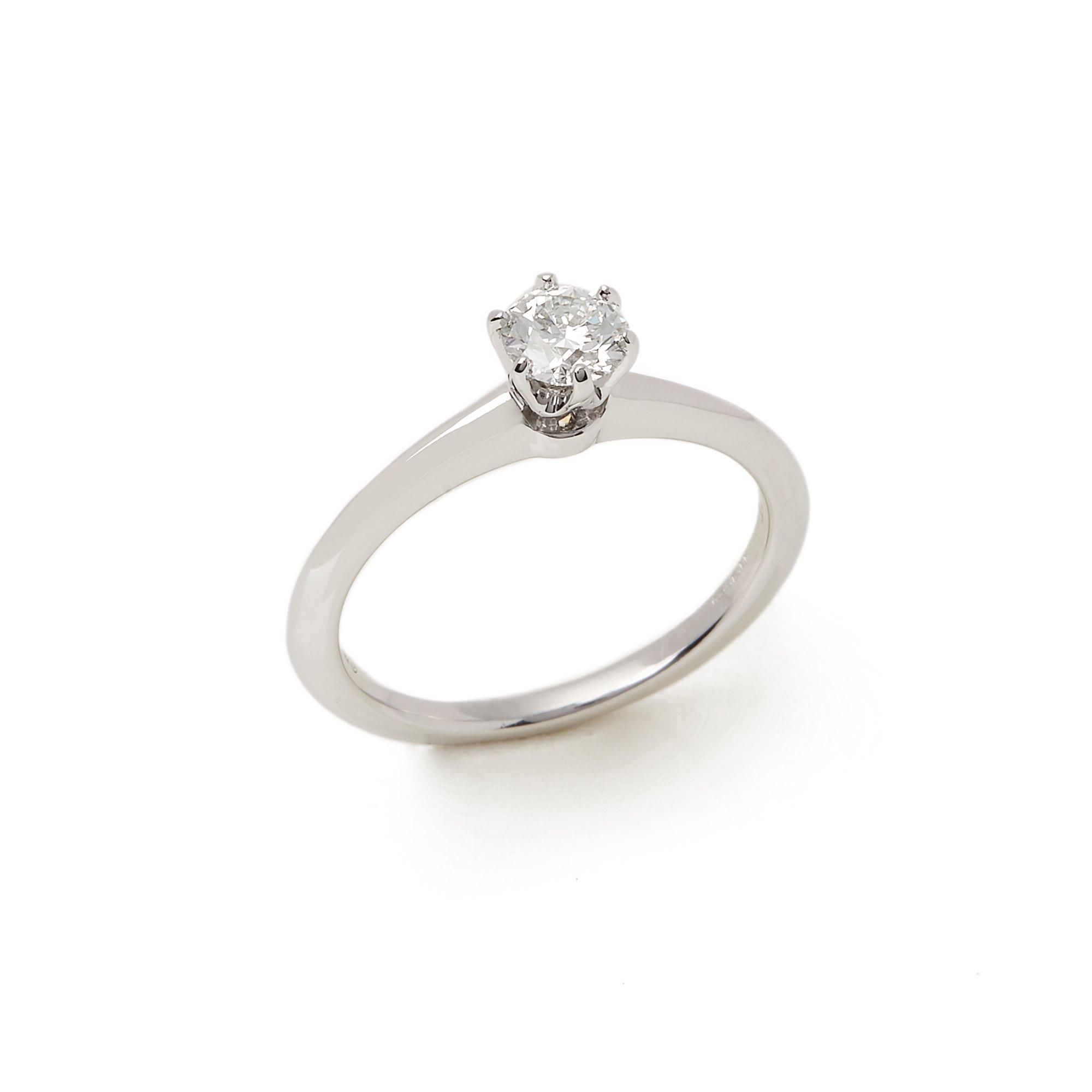 Tiffany & Co. Platinum 0.35ct Round Brilliant Cut Diamond Solitaire Ring