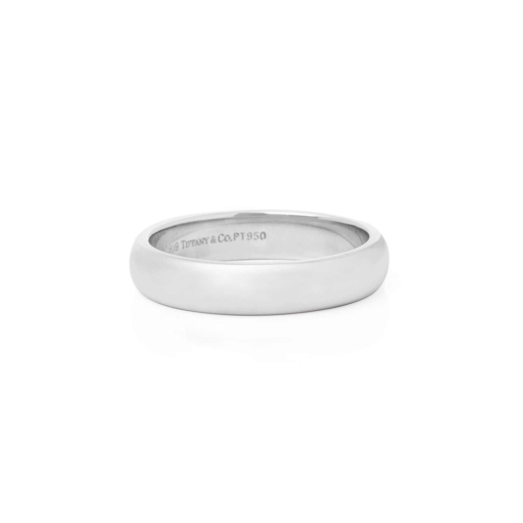 Tiffany & Co. Platinum 4.5mm Court Wedding Ring