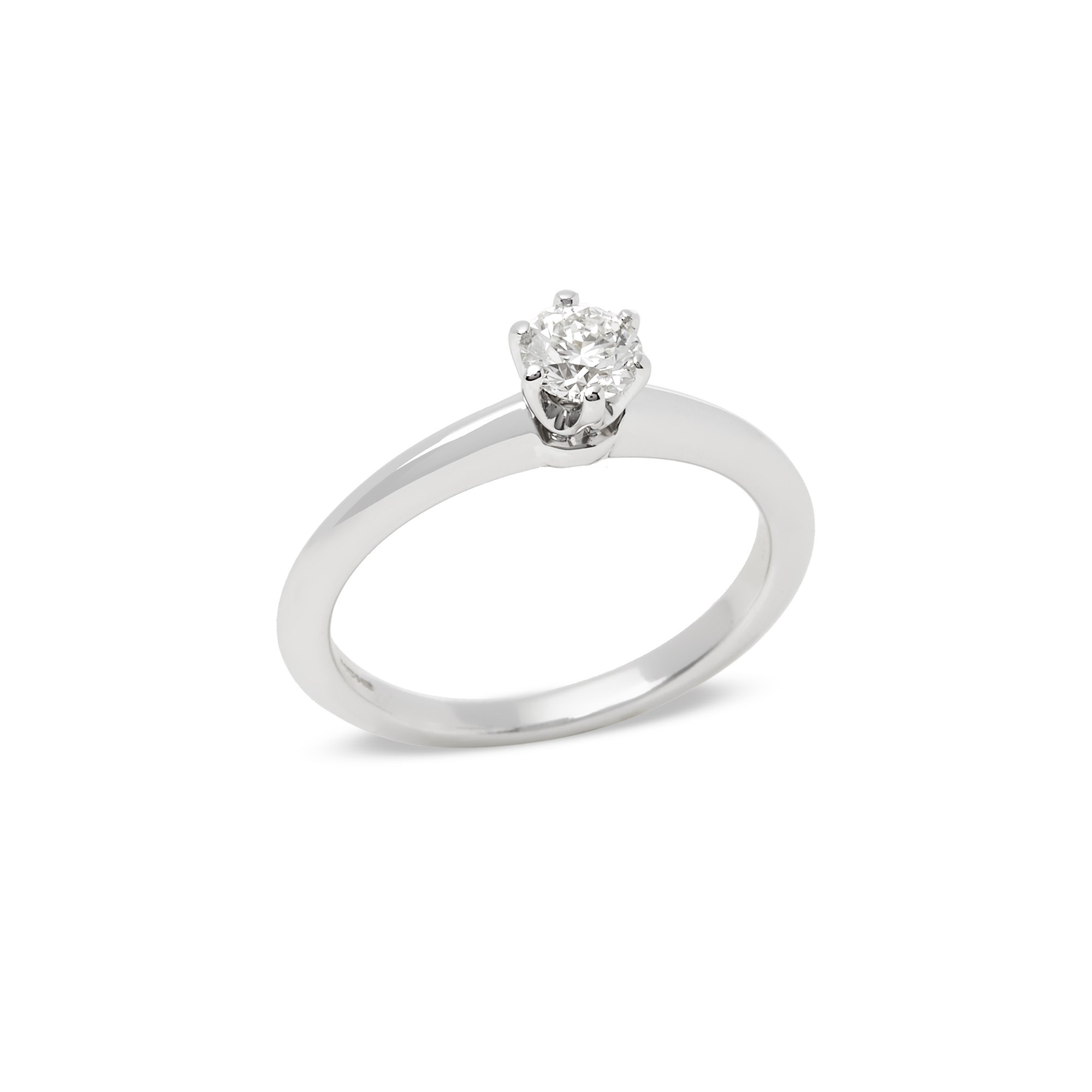 Tiffany & Co. Platinum 0.30ct Round Brilliant Cut Diamond Solitaire Ring