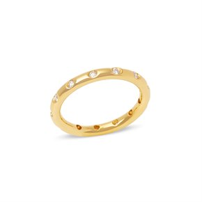 Tiffany & Co. 18k Yellow Gold Round Brilliant Cut Diamond Eternity Ring