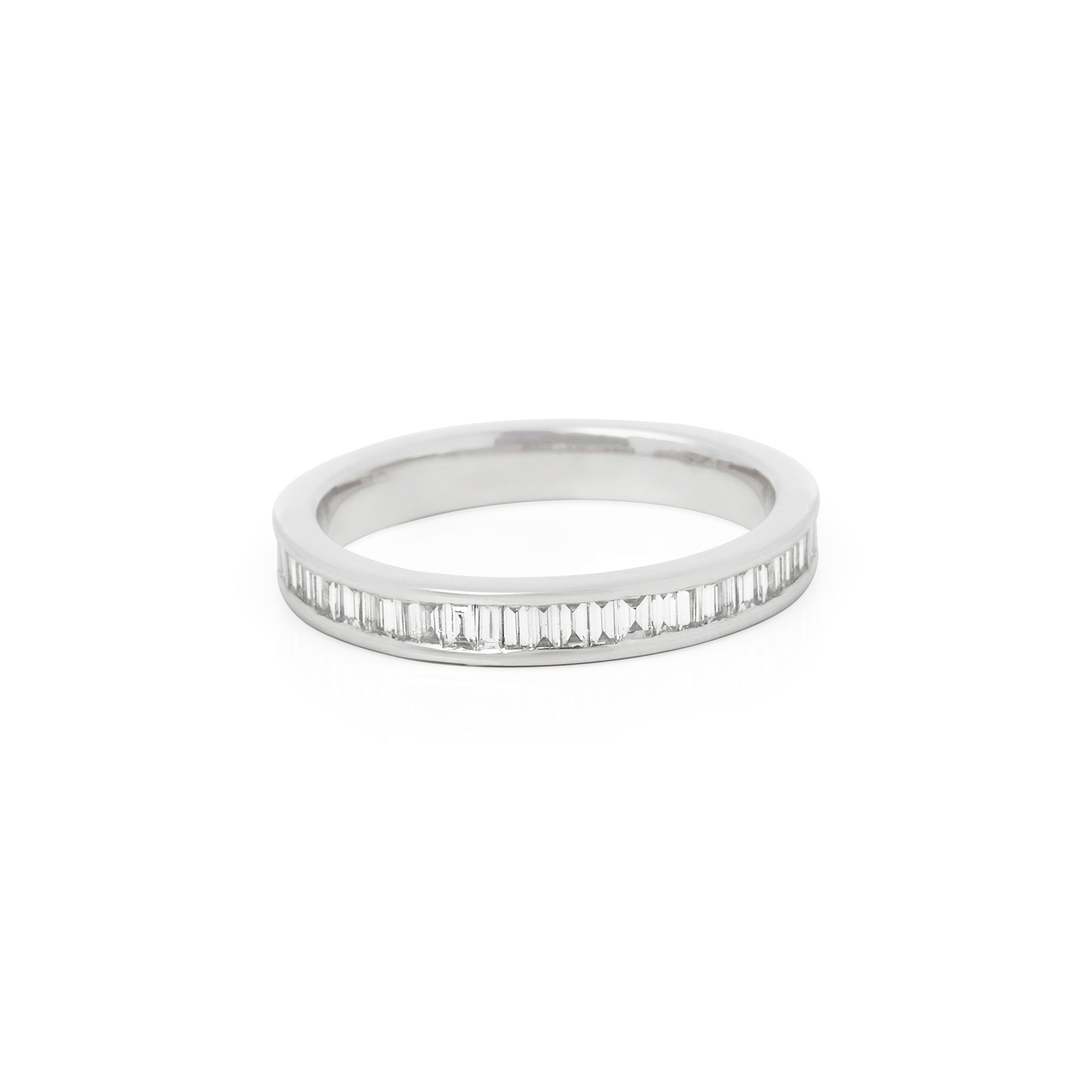 Diamond Platinum Baguette Cut Diamond Full Eternity Ring