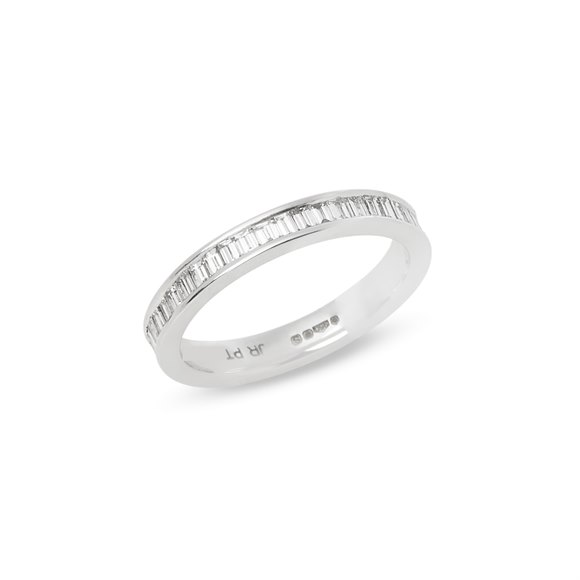 Platinum Baguette Cut Diamond Full Eternity Ring