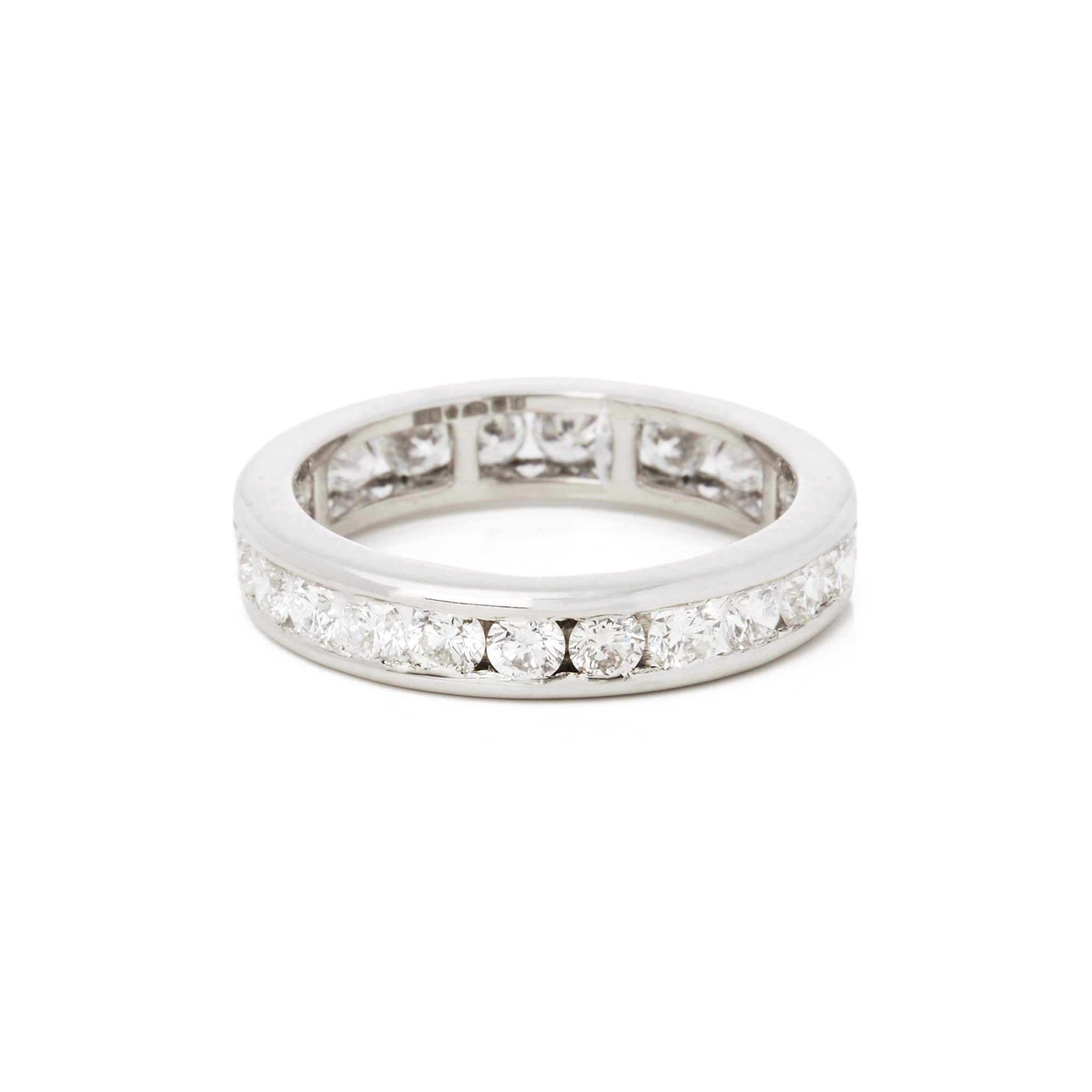 Diamond Platinum Round Brilliant Cut Diamond Full Eternity Ring 1.70cts