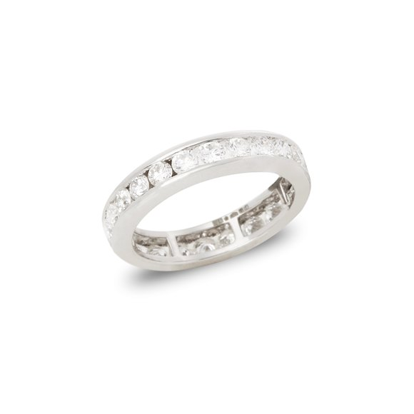 Platinum Round Brilliant Cut Diamond Full Eternity Ring 1.70cts