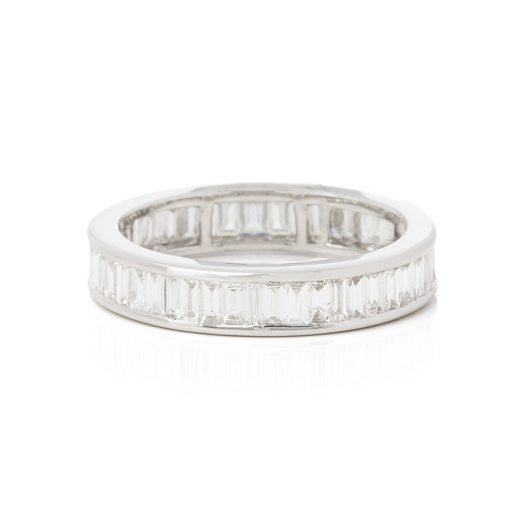 Diamond Platinum Baguette Cut Diamond Channel Set Full Eternity Ring 1.67cts