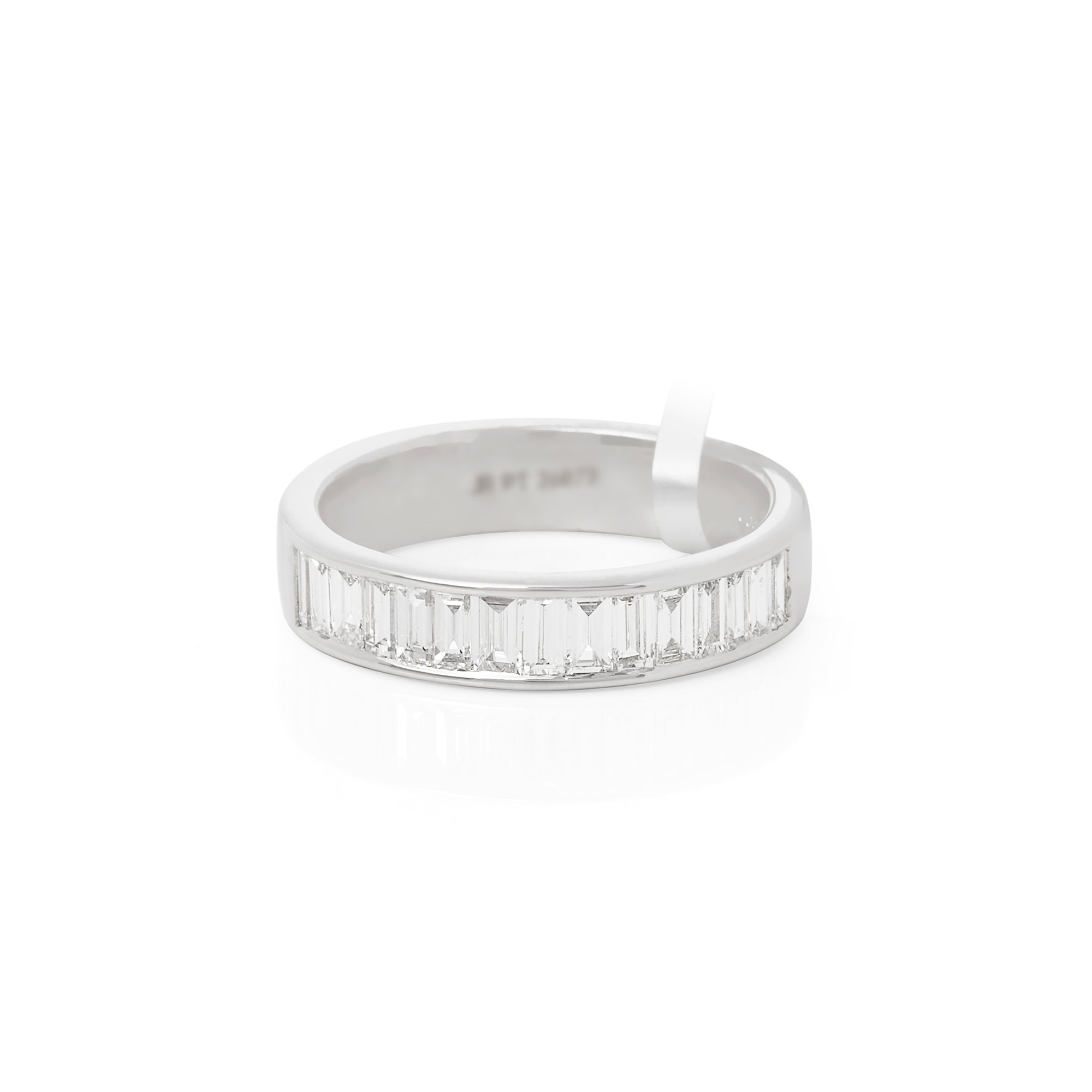 Diamond Platinum Baguette Cut Diamond Channel Set 0.77ct Half Eternity Ring