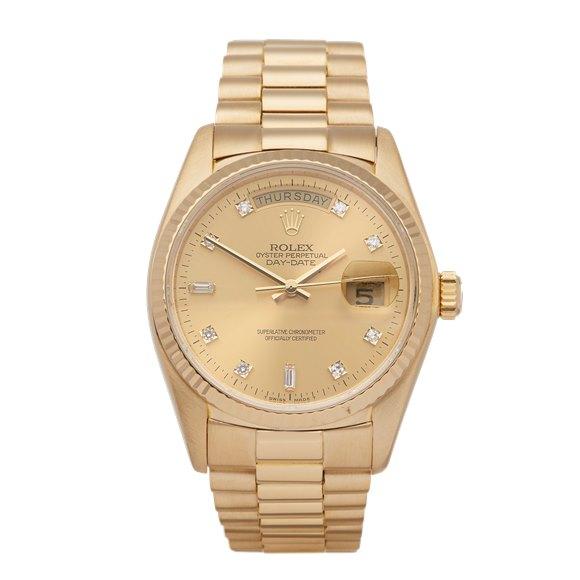 Rolex Day-Date 36 Diamond 18K Yellow Gold - 18038