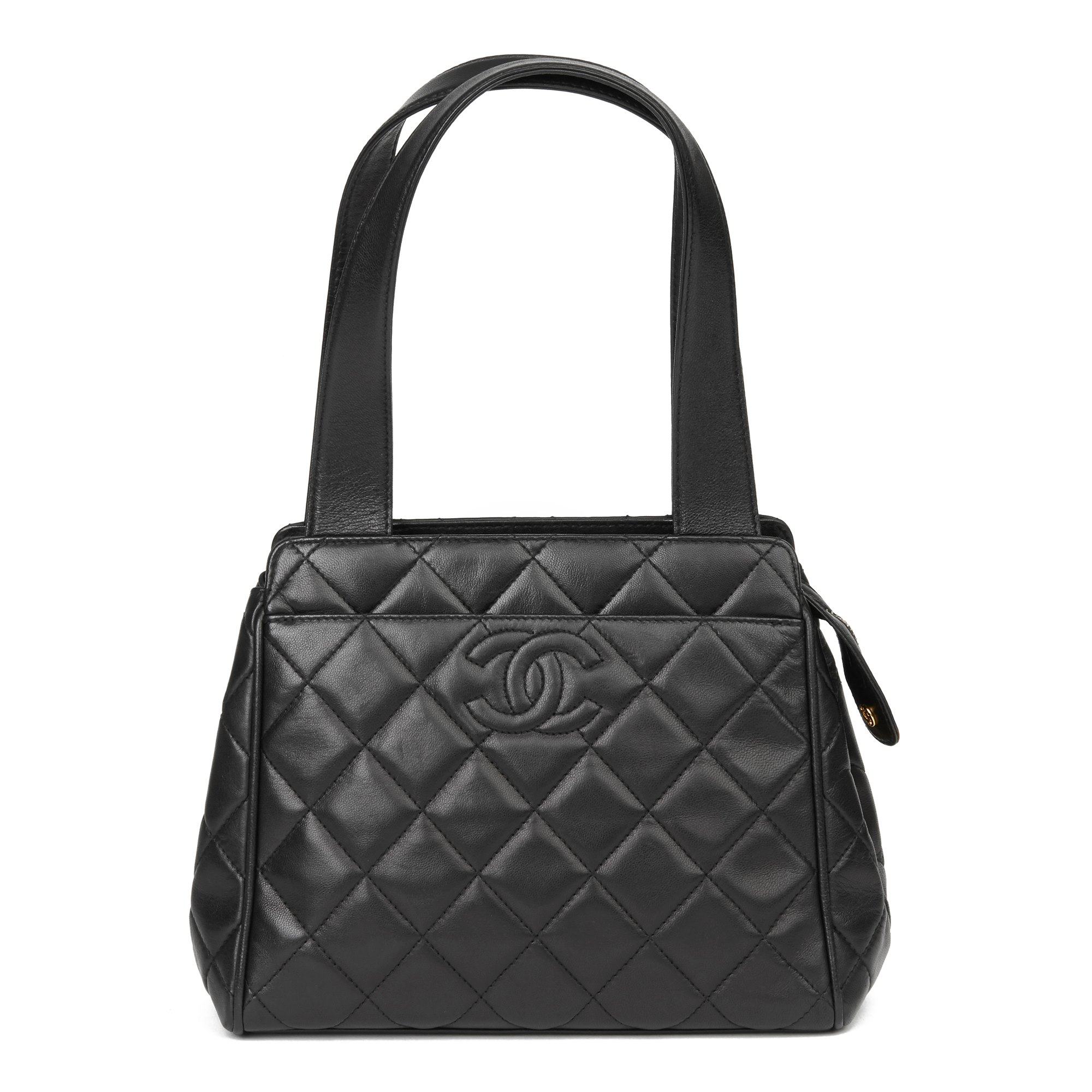 Chanel Black Quilted Lambskin Vintage Timeless Tote