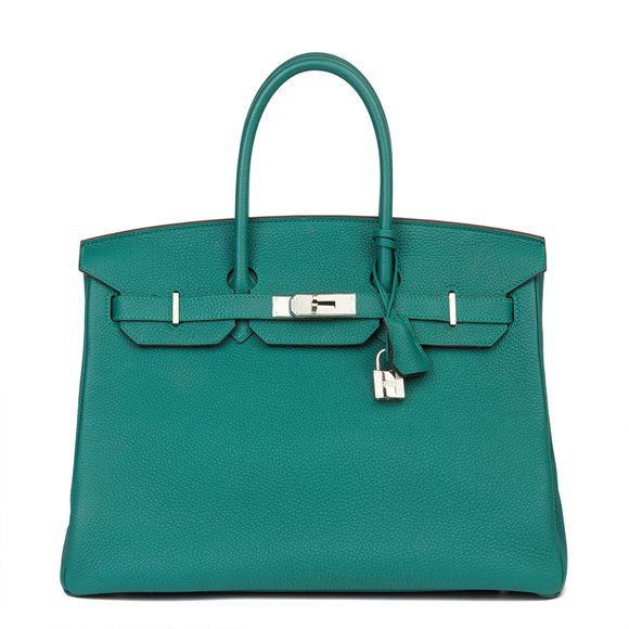 Hermès Malachite Togo Leather Birkin 35cm