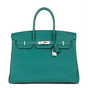 Hermès Malachite Togo Leather Birkin 35cm