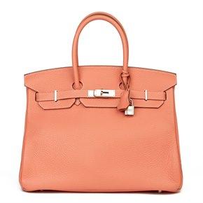 Hermès Crevette Clemence Leather Birkin 35cm