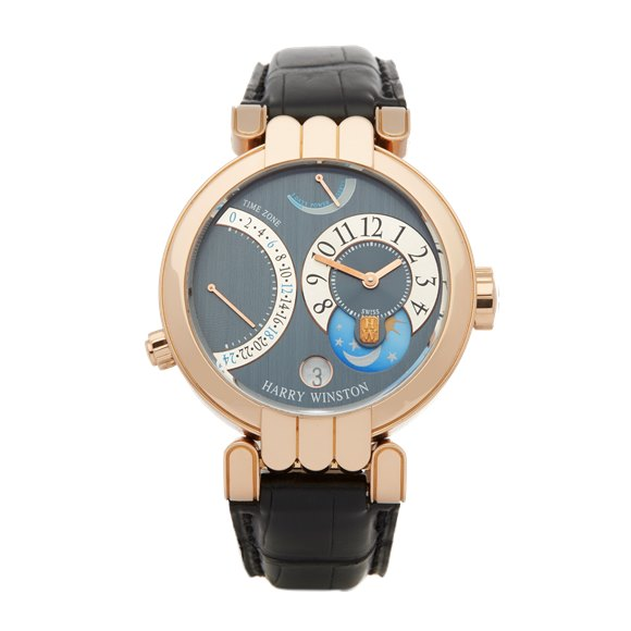 Harry Winston Premier Excenter Time Zone 18K Rose Gold - 200-MMTZ39R