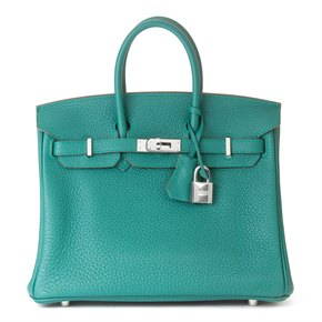 Hermès Malachite Togo Leather Birkin 25cm
