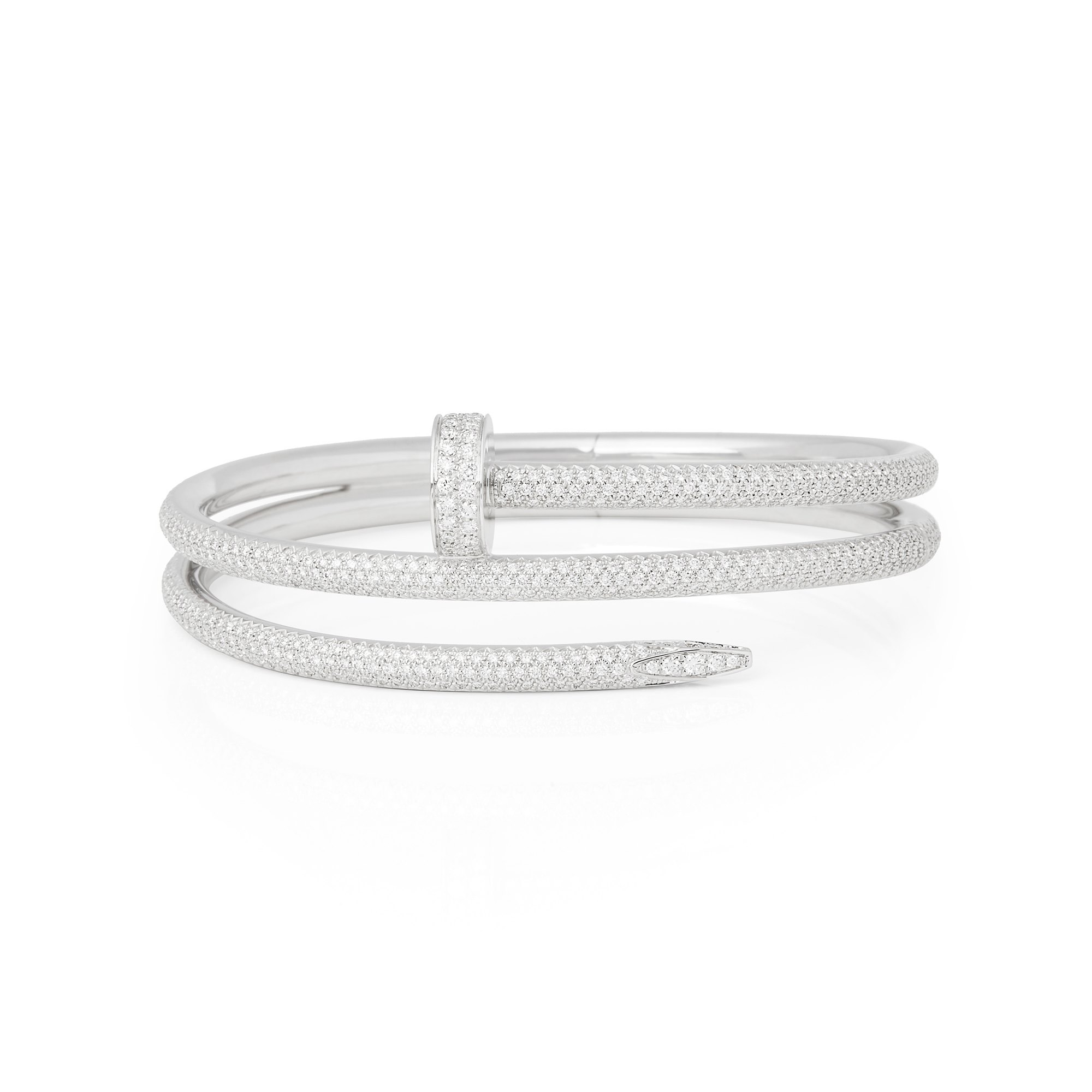 Cartier 18k White Gold Juste Un Clou Diamond Bracelet