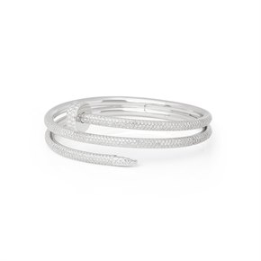 Cartier 18k White Gold Juste Un Clou Diamond Bracelet