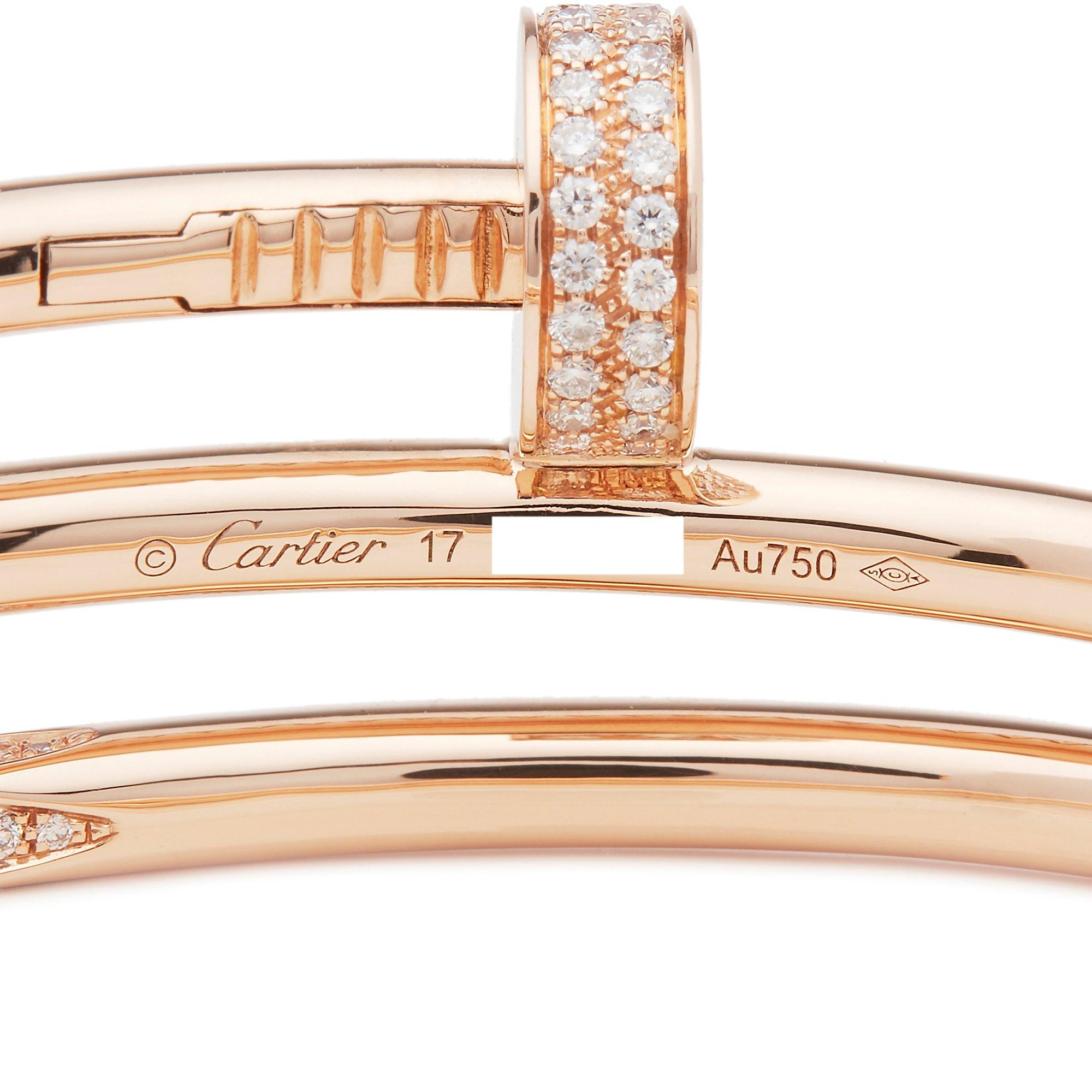 Cartier 18k Rose Gold Juste Un Clou Diamond Bracelet