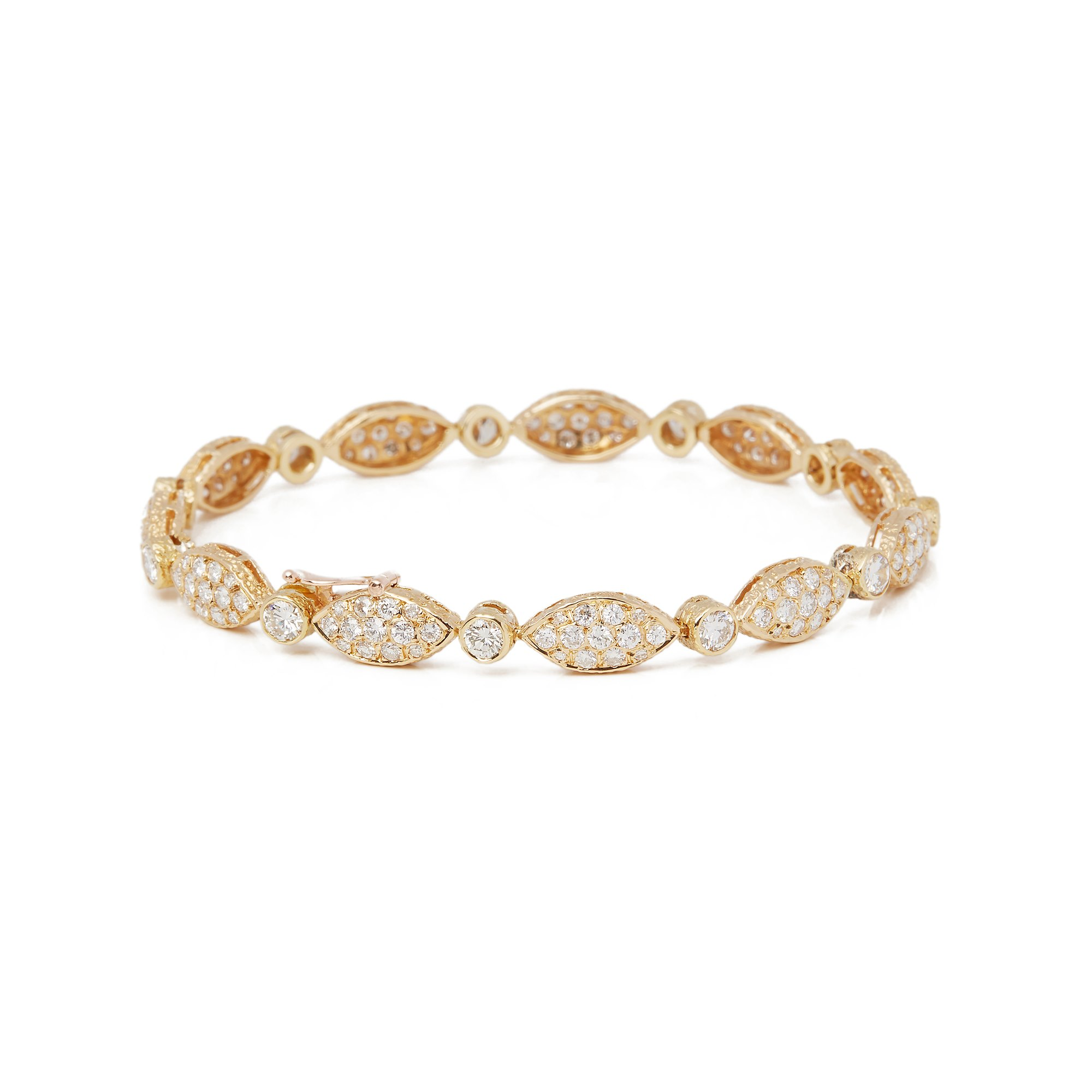 Van Cleef & Arpels 18k Yellow Gold Diamond Bracelet